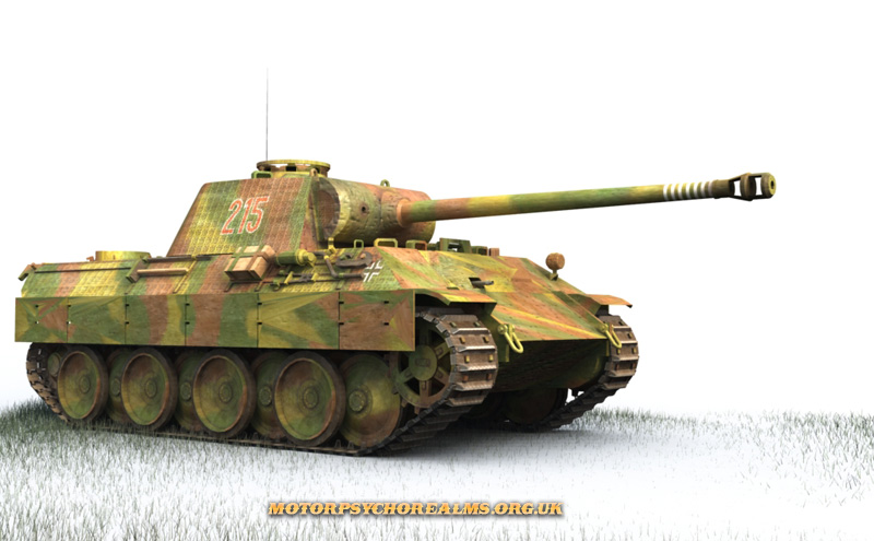 German Panther Ausf. G; digital illustration by Les Still